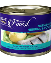 Fish 4 Dogs Finest Norwegian Herring & Potato dog food wet- Jurassic Bark Pet Store Littleport Ely Cambridge