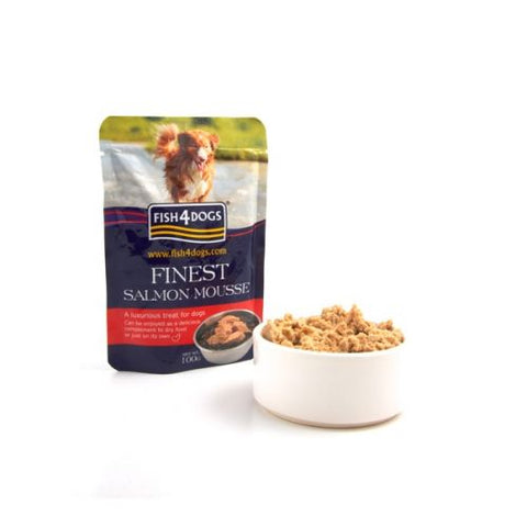 Fish 4 Dogs Salmon Mousse Dog Treats- Jurassic Bark Pet Store Littleport Ely Cambridge