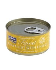Fish4Cats Finest Tuna Fillet with Cheese Pack of 6 Cat Food Wet- Jurassic Bark Pet Store Littleport Ely Cambridge