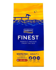 Fish 4 Dogs Finest Adult Ocean White Fish Small Kibble Dog Food Dry- Jurassic Bark Pet Store Littleport Ely Cambridge