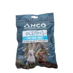 Anco Oceans Fish Skin Twists Dog Treats- Jurassic Bark Pet Store Littleport Ely Cambridge