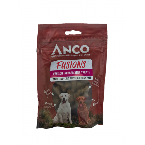 Anco Fusions Venson Infused Beef Treat for Dogs Dog Treats- Jurassic Bark Pet Store Littleport Ely Cambridge