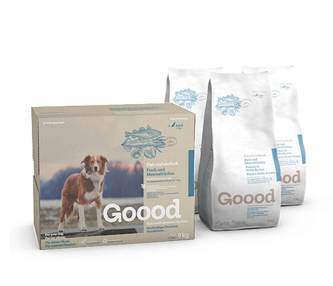 Goood Adult Sustainable Fish and Seafood Dog Food Dry- Jurassic Bark Pet Store Littleport Ely Cambridge