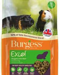 Burgess Excel Adult Guinea Pig Nuggets with Mint Small Animal- Jurassic Bark Pet Store Littleport Ely Cambridge