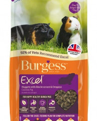 Burgess Excel Adult Guinea Pig Nuggets with Blackcurrant & Oregano Small Animal- Jurassic Bark Pet Store Littleport Ely Cambridge
