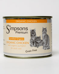 Simpsons Organic Chicken with Organic Pumpkin Cat 6 x 200g