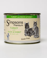Simpsons Turkey with Duck and Rabbit Cat 6 x 200g
