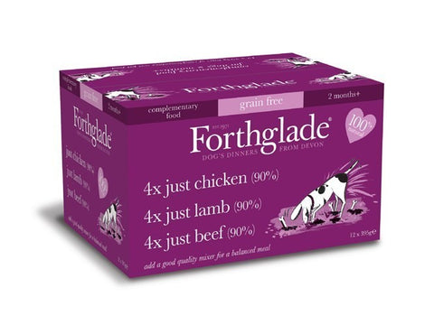 Forthglade Just Chicken, Lamb & Beef Variety Pack dog food wet- Jurassic Bark Pet Store Littleport Ely Cambridge