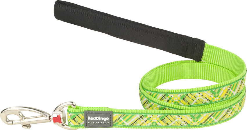 Red Dingo Flanno Dog Lead Dog Lead- Jurassic Bark Pet Store Littleport Ely Cambridge
