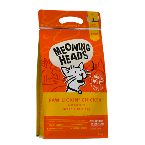 Meowing Heads Paw Lickin' Chicken Dry Food 450g