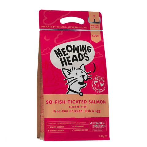 Meowing Heads So-Fish-Ticated Salmon Dry Food 450g