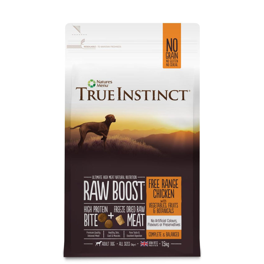 True Instinct Raw Boost Free Range Chicken for Adult Dogs dog food dry- Jurassic Bark Pet Store Littleport Ely Cambridge