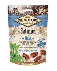 Carnilove Salmon with Mint Cat Treats 50g Cat Treats- Jurassic Bark Pet Store Littleport Ely Cambridge