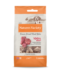 Natures Variety Freeze Dried Meat Bites Beef 20g