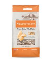 Natures Variety Freeze Dried Meat Bites Chicken 20g