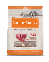 Natures Variety Freeze Dried Meat Chunks Beef 200g
