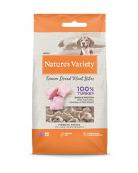 Natures Variety Freeze Dried Meat Bites Turkey 20g