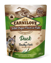 Carnilove Dog Pouch Duck With Timothy Grass 300g