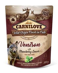 Carnilove Dog Pouch Venison With Strawberry Leaves 300g