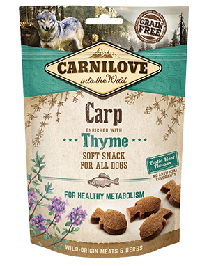CARNILOVE Dog Treats Carp With Thyme 200g Dog Treats- Jurassic Bark Pet Store Littleport Ely Cambridge