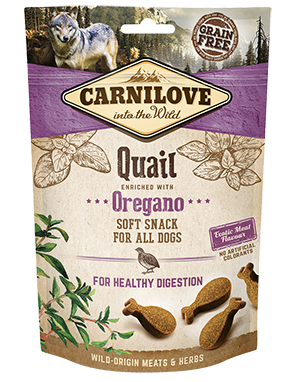 CARNILOVE Dog Treats Quail With Oregano 200g Dog Treats- Jurassic Bark Pet Store Littleport Ely Cambridge