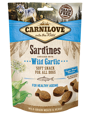 CARNILOVE Dog Treats Sardines With Wild Garlic 200g Dog Treats- Jurassic Bark Pet Store Littleport Ely Cambridge