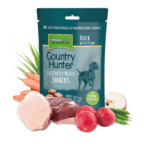 Natures Menu Freeze Dried Dog Snacks Duck with Plum Dog Treats- Jurassic Bark Pet Store Littleport Ely Cambridge
