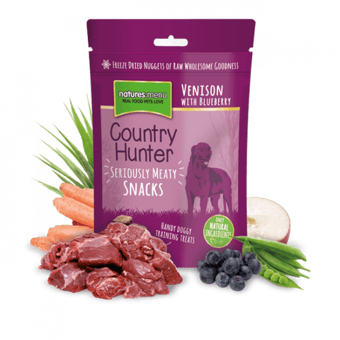 Natures Menu Freeze Dried Dog Snacks Venison with Blueberry Dog Treats- Jurassic Bark Pet Store Littleport Ely Cambridge