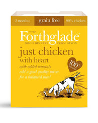 Forthglade Adult Dog Tray - Just Chicken with Heart 1x 395g Dog- Jurassic Bark Pet Store Littleport Ely Cambridge