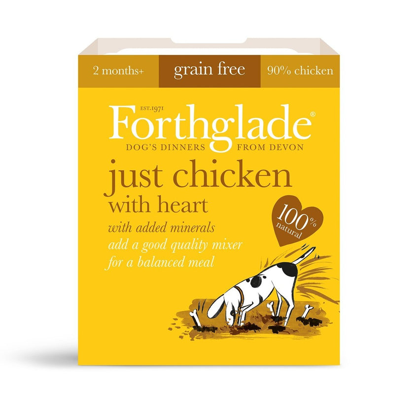 Forthglade Just Chicken with Heart (395g) dog food wet- Jurassic Bark Pet Store Littleport Ely Cambridge