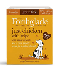 Forthglade Adult Dog Tray - Just Chicken with Tripe 1x 395g Dog- Jurassic Bark Pet Store Littleport Ely Cambridge