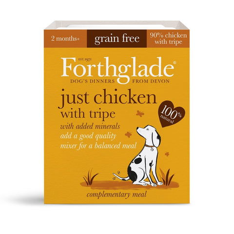 Forthglade Just Chicken with Tripe (395g) dog food wet- Jurassic Bark Pet Store Littleport Ely Cambridge