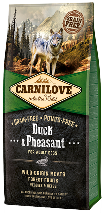 CARNILOVE Duck & Pheasant for Adult Dog Food Dry- Jurassic Bark Pet Store Littleport Ely Cambridge