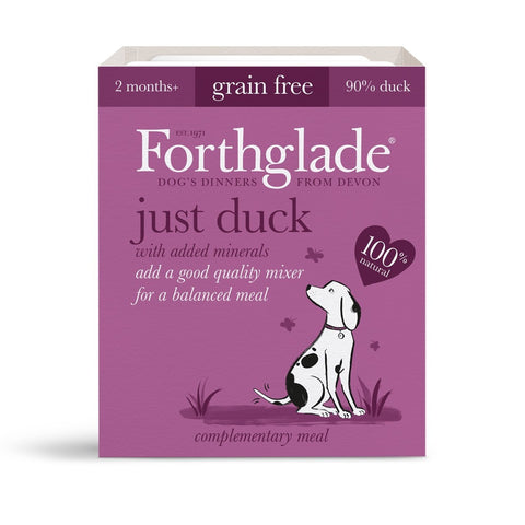 Forthglade Just Duck (395g) dog food wet- Jurassic Bark Pet Store Littleport Ely Cambridge