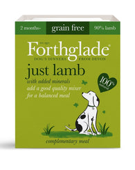 Forthglade Adult Dog Tray - Just Lamb 1x 395g Dog- Jurassic Bark Pet Store Littleport Ely Cambridge