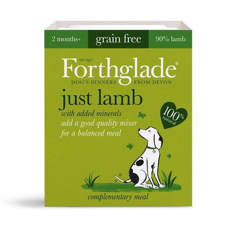 Forthglade Just Lamb (395g) dog food wet- Jurassic Bark Pet Store Littleport Ely Cambridge