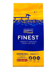 Fish 4 Dogs Finest Adult Ocean White Fish Large Kibble Dog Food Dry- Jurassic Bark Pet Store Littleport Ely Cambridge