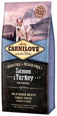 Carnilove Salmon & Turkey for Puppies Dog Food Dry- Jurassic Bark Pet Store Littleport Ely Cambridge