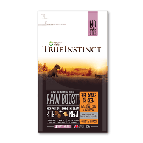 True Instinct Raw Boost Free Range Chicken for Puppies dog food dry- Jurassic Bark Pet Store Littleport Ely Cambridge