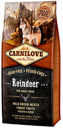 CARNILOVE Reindeer for Adult Dog Food Dry- Jurassic Bark Pet Store Littleport Ely Cambridge
