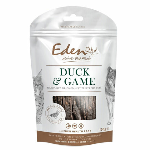 EDEN Duck and Game Treat 100g Dog Treats- Jurassic Bark Pet Store Littleport Ely Cambridge