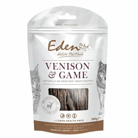 EDEN Venison and Game Treat 100g Dog Treats- Jurassic Bark Pet Store Littleport Ely Cambridge