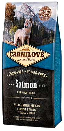 CARNILOVE Salmon for Adult Dog Food Dry- Jurassic Bark Pet Store Littleport Ely Cambridge