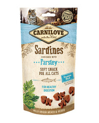 Carnilove Sardine with Parsley Cat Treat 50g Cat Treats- Jurassic Bark Pet Store Littleport Ely Cambridge