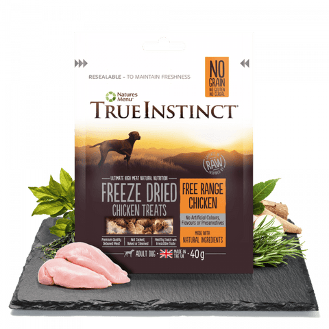 True Instinct Freeze Dried Dog Treats Free Range Chicken Dog Treats- Jurassic Bark Pet Store Littleport Ely Cambridge