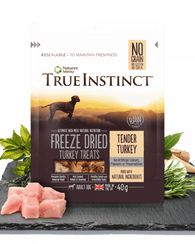 True Instinct Freeze Dried Treat Turkey Adult Dog 40g Dog- Jurassic Bark Pet Store Littleport Ely Cambridge