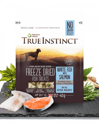 True Instinct Freeze Dried Treat White Fish and Salmon 40g Dog- Jurassic Bark Pet Store Littleport Ely Cambridge