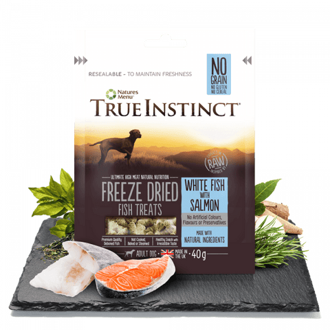 Freeze Dried Dog Treats White Fish with Salmon