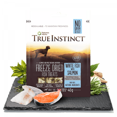 True Instinct Freeze Dried Dog Treats White Fish with Salmon Dog Treats- Jurassic Bark Pet Store Littleport Ely Cambridge