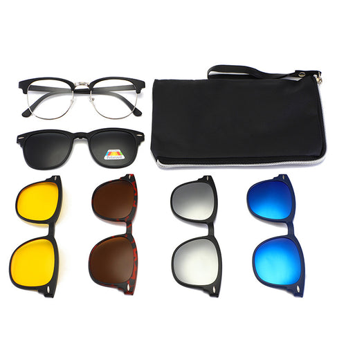 6 in 1 Clip-on Polarized Sunglasses